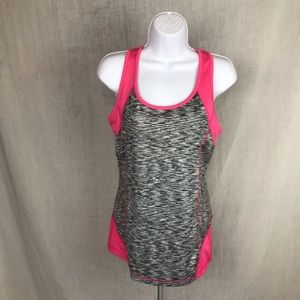 Tops - Pink and grey work out tank top Large